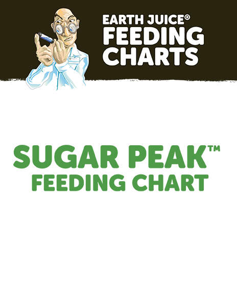 Earth Juice Feeding Charts: Sugar Peak Chart thumbnail